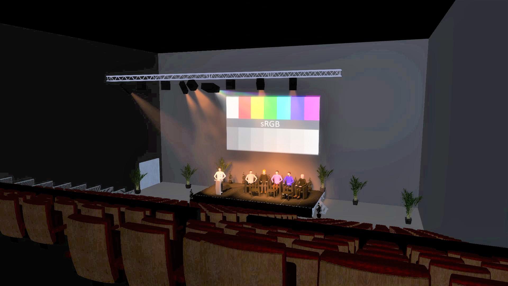 Salle Convention Vue Haut Gradin Cour V2